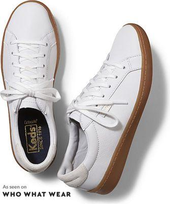 Keds Ace Leather White Gum, Size 5.5m Women Inchess Shoes