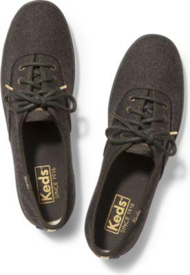 Keds Champion Wool. Forest Green, Size 7m Women Inchess Shoes