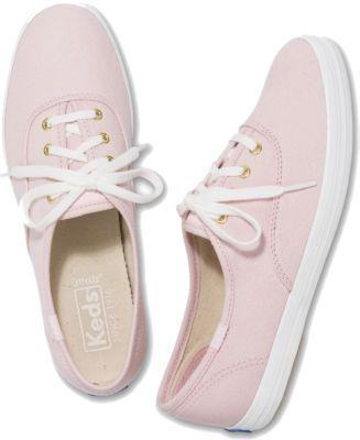Keds Champion Chalky Canvas Rose Pink, Size 5m Women Inchess Shoes