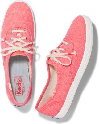 Keds Champion Mini Brights Coral, Size 5m Women Inchess Shoes