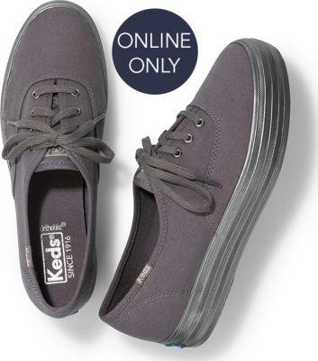 Keds Triple Shimmer Gray, Size 5m Women Inchess Shoes