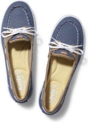 Keds Glimmer. Navy Striped Canvas, Size 5w Women Inchess Shoes