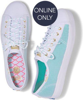 Keds X Alaina Marie Kickstart Mesh Waves Aqua, Size 5.5m Women Inchess Shoes