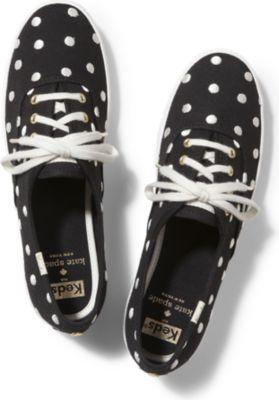 Keds X Kate Spade New York Champion White Dancing Dot, Size 5m Women Inchess Shoes