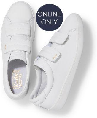 Keds Ace V Leather White, Size 6m Women Inchess Shoes