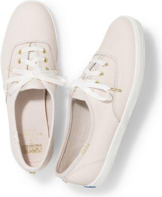 Keds X Kate Spade New York Champion Leather Rose Dew Pink, Size 5m Women Inchess Shoes