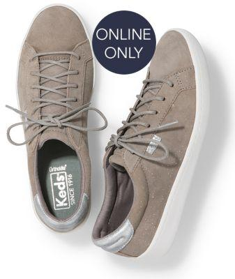 Keds Ace Glitter Suede Gray, Size 5m Women Inchess Shoes