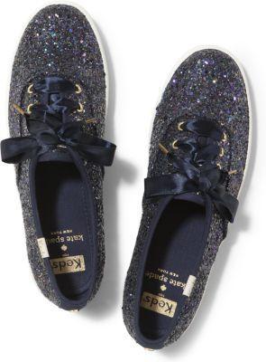 Keds X Kate Spade New York Champion Glitter. Multi Navy Glitter, Size 5m Women Inchess Shoes