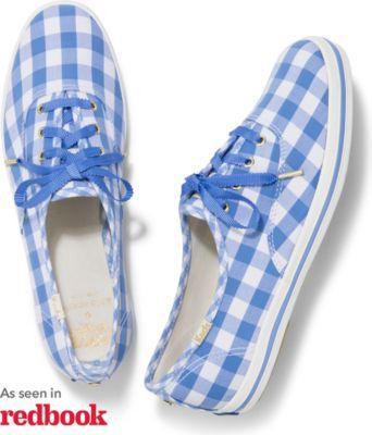 Keds X Kate Spade New York Champion Periwinkle Gingham, Size 5.5m Women Inchess Shoes