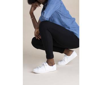 Keds Kickstart Leather White/blue, Size 10m Women Inchess Shoes