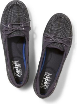 Keds Glimmer Wool Black Plaid, Size 5m Women Inchess Shoes