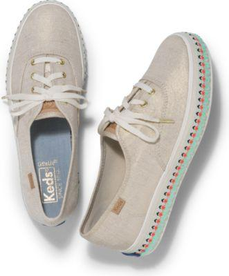 Keds Triple Hula Foxing Natural, Size 5m Women Inchess Shoes