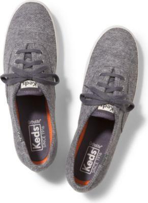 Keds Champion Sweatshirt Jersey Gray, Size 8m Women Inchess Shoes