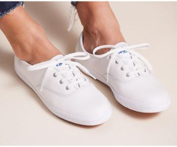 Keds Champion Originals Leather White, Size 9m Women Inchess Shoes
