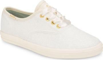 Keds X Kate Spade New York Champion Glitter Sneaker Cream, Size M Keds Shoes