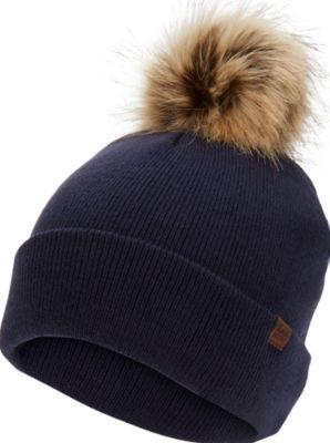 Keds Watch Cap W/ Faux Fur Pom Peacoat, Size One Size Women Inchess Shoes