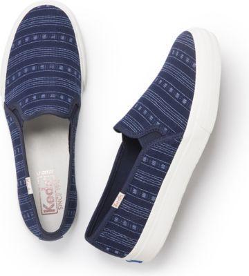 Keds Double Decker Summer Stripe Navy, Size 5m Women Inchess Shoes