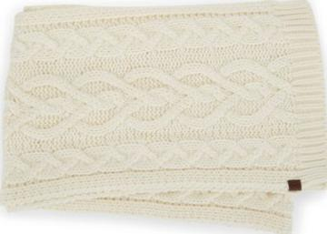 Keds Cable Knit Scarf Egret, Size One Size Women Inchess Shoes