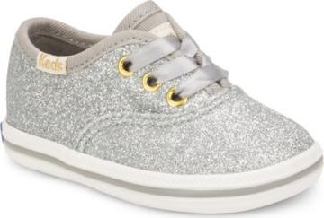 Keds X Kate Spade New York Champion Glitter Crib Sneaker Silver, Size M Keds Shoes