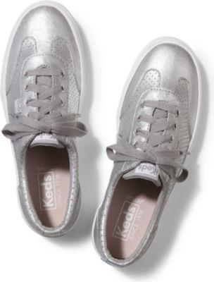 Keds Tournament Metallic Suede Silver, Size 5m Women Inchess Shoes