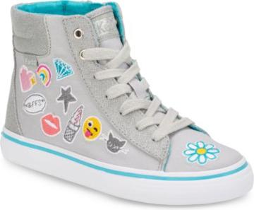 Keds Double Up High Top Grey Emoji, Size M Keds Shoes