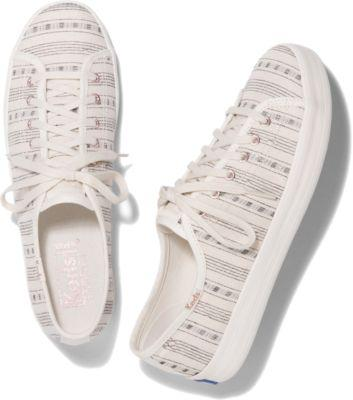 Keds Kickstart Summer Stripe Cream, Size 5m Women Inchess Shoes
