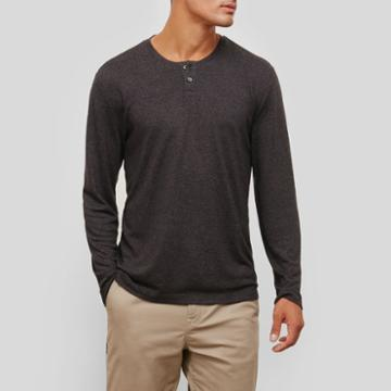 Kenneth Cole New York Tech Thermal Henley - Black