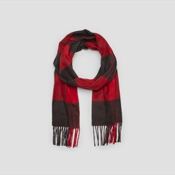 Kenneth Cole New York Buffalo Check Scarf - Rose Gold