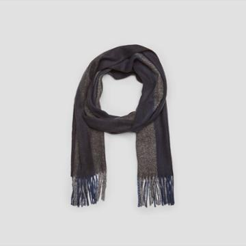 Kenneth Cole New York Wide Vertical Stripe Scarf - Navy