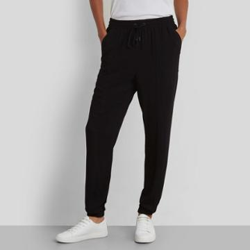Kenneth Cole New York Side Pocket Drawstring Pant - Black