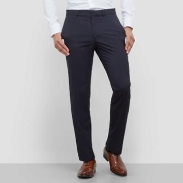 Kenneth Cole New York Techni-cole Striped Dress Pant - Navy