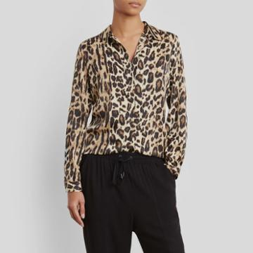 Kenneth Cole New York Tunic Shirt - Natural Leopard