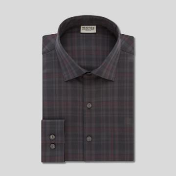 Reaction Kenneth Cole Slim-fit Dress Shirt - Garnet