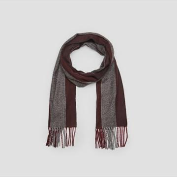 Kenneth Cole New York Wide Vertical Stripe Scarf - Rose Gold