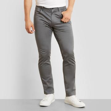 Kenneth Cole New York Classic Slim Fit Pant - Dim Grey