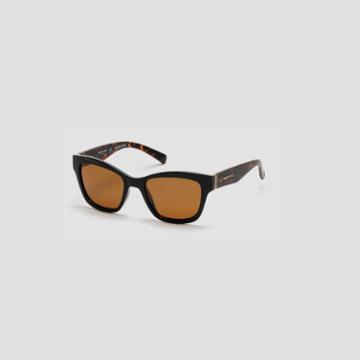 Kenneth Cole New York Techni-cole Black Cateye Sunglasses - Sblack/brownpz