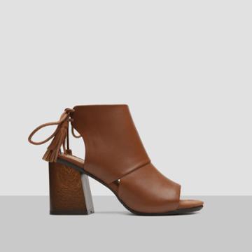 Reaction Kenneth Cole Rachelle Leather Open-toe Heel - Brown