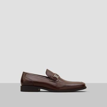 Reaction Kenneth Cole Bottom-s Up Burnished Leather Loafer - Brown