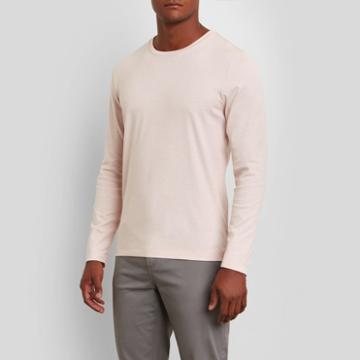 Kenneth Cole New York Long-sleeve Crewneck Shirt - B Pnk/rs Gld