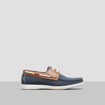 Unlisted, A Kenneth Cole Production Comment-ary Boat Shoe Loafer - Navy