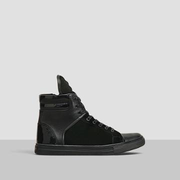 Kenneth Cole New York Double Up Velvet High-top Sneaker - Navy