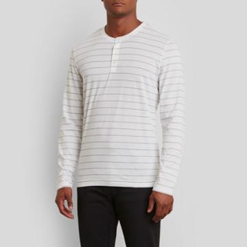 Kenneth Cole New York Long-sleeve Henley Shirt - White