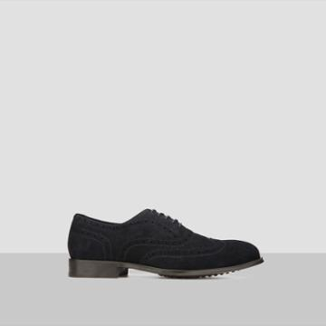 Kenneth Cole New York Suede Wingtip Shoe - Midnight Nvy