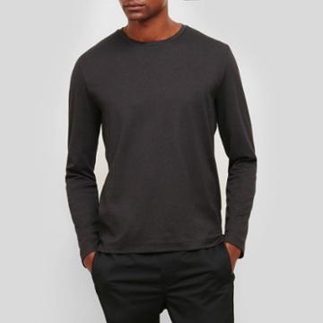 Kenneth Cole New York Long-sleeve Crewneck Shirt - Black