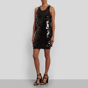 Kenneth Cole New York Paillete Swing Dress - Black