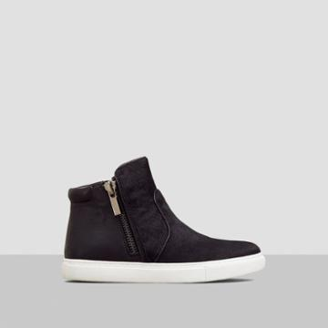 Kenneth Cole New York Kiera Mixed Media Sneaker - Black Haircalf