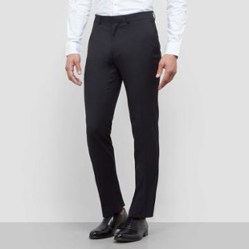 Kenneth Cole New York Techni-cole Modern Fit Dress Pant - Black