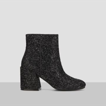 Kenneth Cole New York Randii Glitter Ankle Bootie - Black