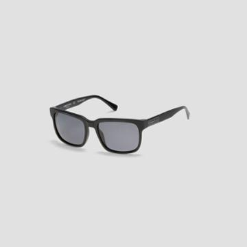 Kenneth Cole New York Techni-cole Matte Black Rectangular Sunglasses - Mblack/smkpz