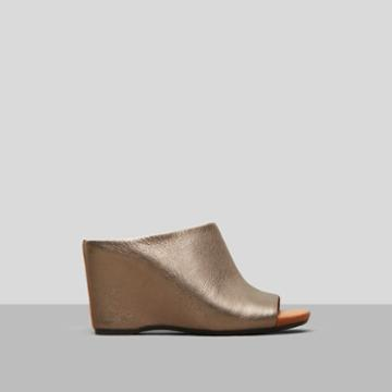 Gentle Souls By Kenneth Cole Ivy Leather Wedge - Grey